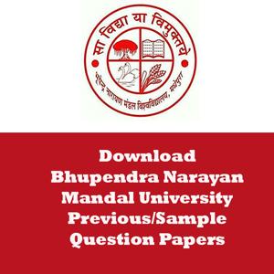 Bhupendra Narayan Mandal University Question Papers