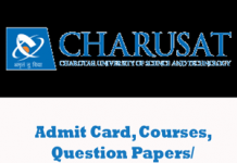 Charotar University of Science and Technology Question Papers