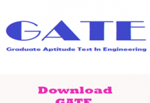 GATE Question Papers 2018