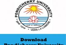 Pondicherry University Question Papers