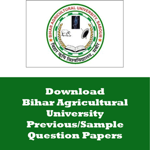 Bihar Agricultural University Question Papers