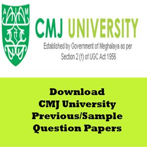 CMJ University Question Papers
