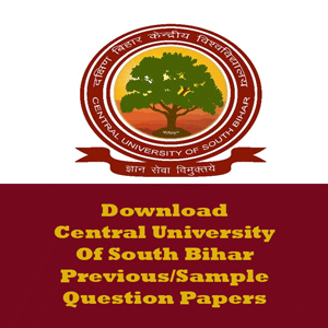 Central University of South Bihar Question Papers
