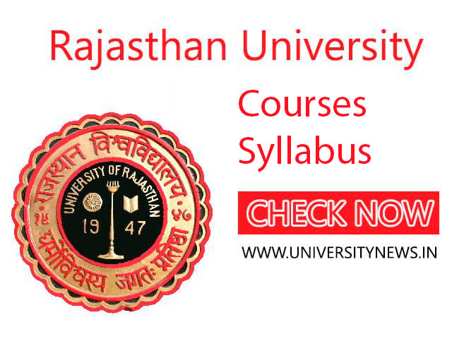 Rajasthan University Courses And Syllabus Download Here