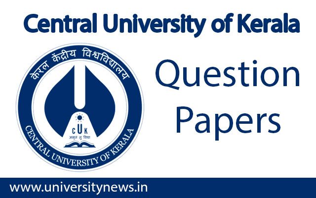 Central University of Kerala Question Papers