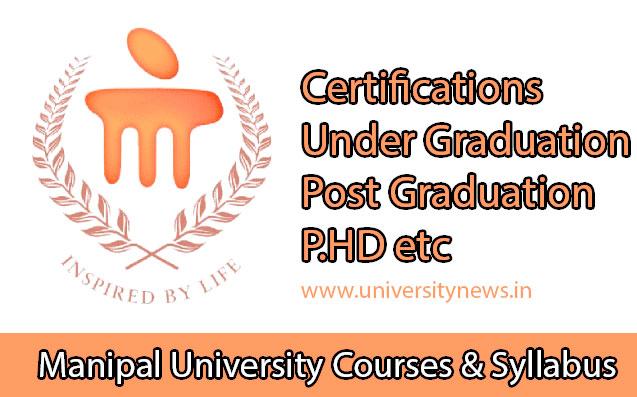 Manipal University Courses And Syllabus Pdf Download University News